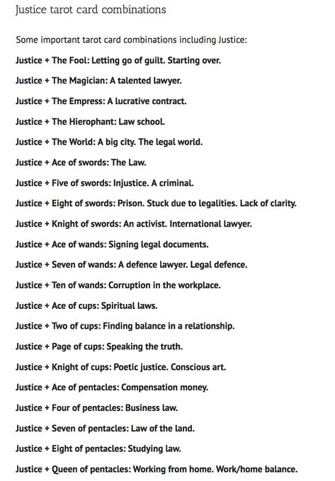 Justice Tarot Card Meanings and Keywords: