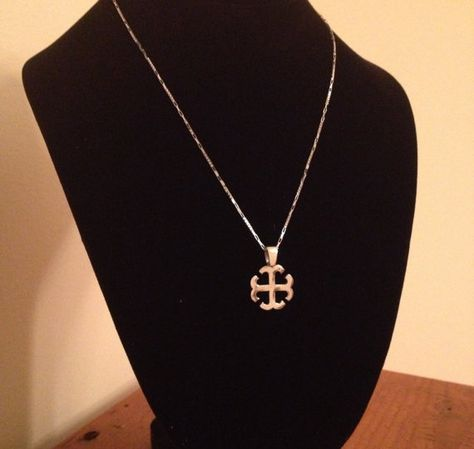 French Cross Pendant w/ Chain on Etsy, $135.00