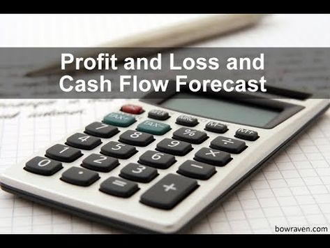 Profit and loss and cash flow forecast with cash flow forecast - business profit and loss