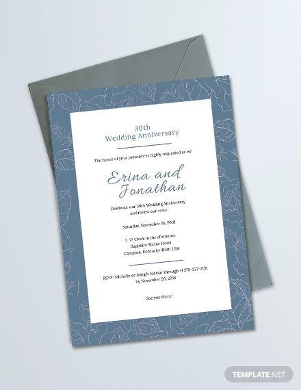 Wedding Anniversary Invitation Card Template Free Pdf Word Psd Apple Pages Illustrator Publisher Outlook 50th Wedding Anniversary Invitations Marriage Invitation Card Format Wedding Invitation Card Design