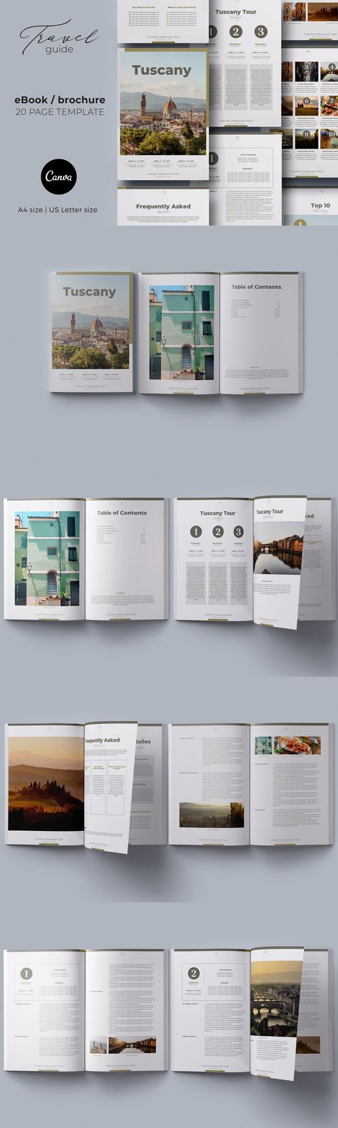 Canva eBook / Brochure Travel Guide