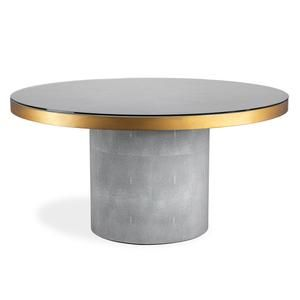 Interlude Home Gabriel Grand Spool Dining Table Paynesgray