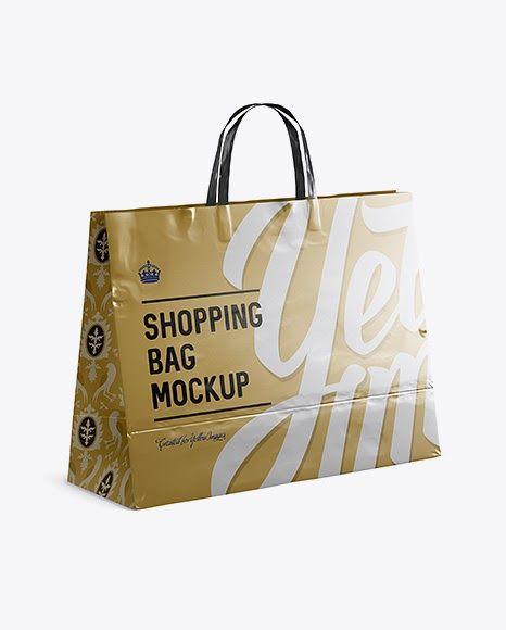 Download Metallic Paper Shopping Bag Psd Mockup Halfside View Bag Mockup Mockup Free Psd Free Psd Mockups Templates