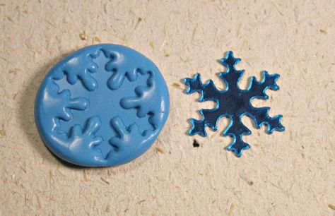 Snowflake, flexible silicone jewelry push mold, for polymer clay, resin, metal clay, candy, chocolate, mini food, craft and more ( m384). $4.99, via Etsy.