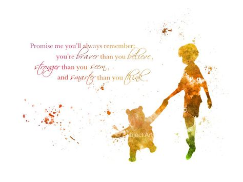 KUNSTDRUCK Zitat von Winnie The Pooh Abbildung von SubjectArt