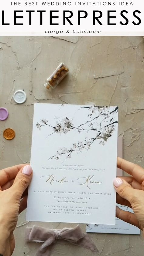 Letterpress wedding invitations the oldest printing technique - we love it. #goldletters #goldwedding #letterpress #weddinginvitatons