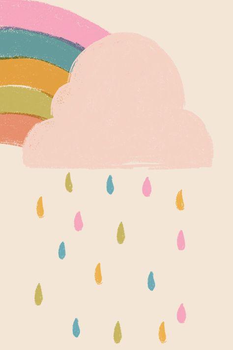 Colourful Rainbow & Cloud HD phone wallpaper