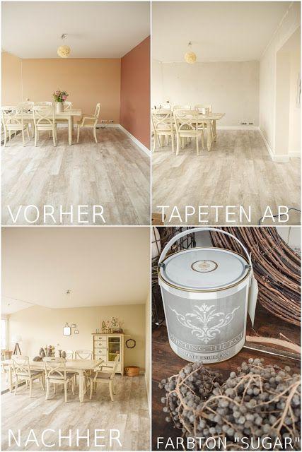 Das Esszimmer Ist Fertig Naturlich Und Schon Mit Kreidefarbe Streichen Kreidefarbe Farben Kreide
