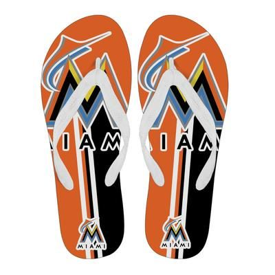c4771bab2e1cbc Great Miami Marlins Fan Gift Two Main Colors Flip Flops