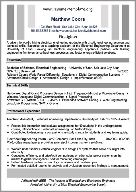 This Image Presents The Functional Resume Template Online Do You