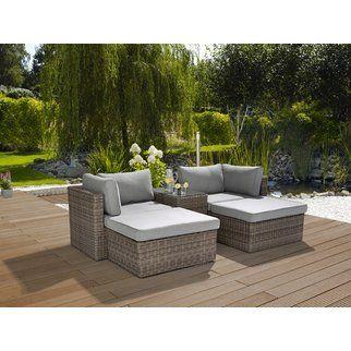Lounge Set Olea 5 Teilig Aus Polyrattan Sand Kaufen Bei Obi In 2020 Lounge Gartenmobel Gartenmobel Sets Aussenmobel