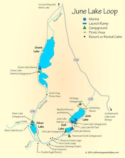 june lake loop map Map Of June Lake Ca With Images June Lake June Lake Camping june lake loop map