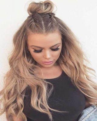 Trendy Hairstyles For Teenage Girls Hair Styles Half Up Hair Long Hair Styles