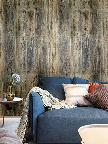 Blooming Wall Hhm02 Peel Stick Vintage Wood Panel Wood Grain Shiplap Textured Thick Self Adhesive Wallpaper Wa Wood Plank Wallpaper Wood Wallpaper Shiplap Wood