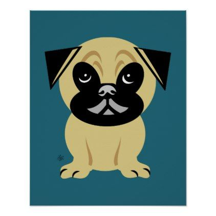 Kids Nursery Pug Wall Art Decor Toddler Youngster Infant Child Kid Gift Idea Design Diy Wall Art Decor Nursery Art Art Decor