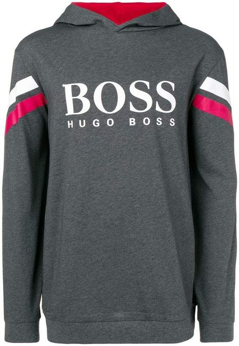 cb3400da HUGO BOSS logo hooded sweatshirt in 2019   Hugo Boss   Hooded ...