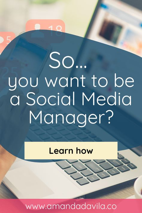 Learn what you need to do to learn how to become a Social Media Manager, so you can work from home (or anywhere!) on your own schedule and make as much as you want.