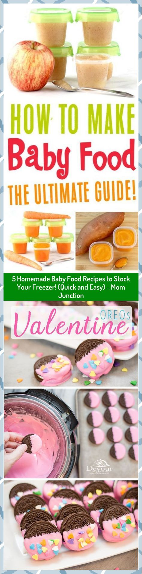 5 Homemade Baby Food Recipes to Stock Your Freezer! {Quick and Easy} - Mom Junction #baby #Easy #Food #Freezer #Homemade #Junction #Mom #Quick #Recipes #Stock