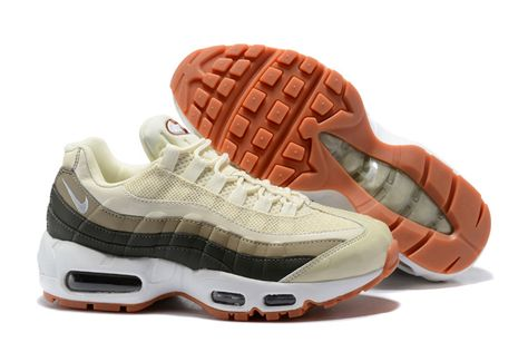Mens Winter Shoes Nike Air Max 95 OG QS White dark blue orange 918359 009 918359 009