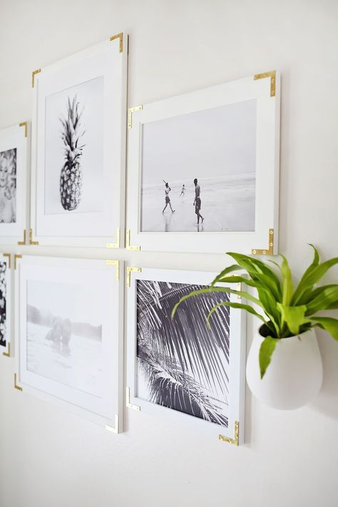Try This: Update Simple Frames With Gold Hardware | A Beautiful Mess | Bloglovin'