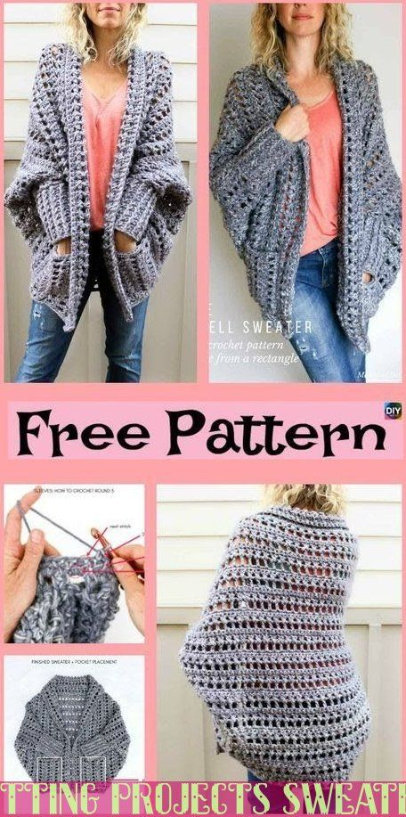 Super Knitting Projects Sweaters Cardigans Free Crochet