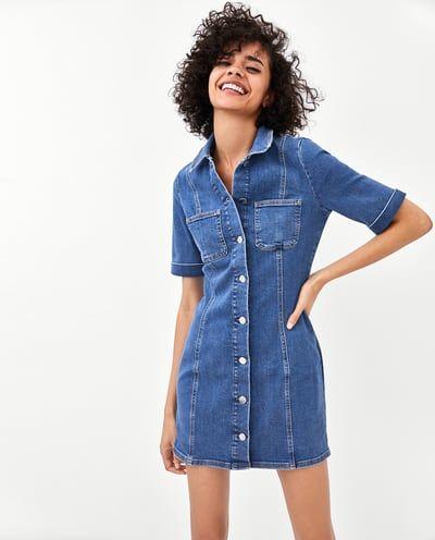 50744ba78b Immagine 2 di VESTITO DENIM AUTHENTIC di Zara | Zara | Vestito denim ...