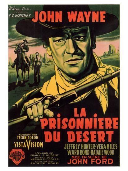 1956 Natalie Wood John Wayne movie poster print 4 The Searchers