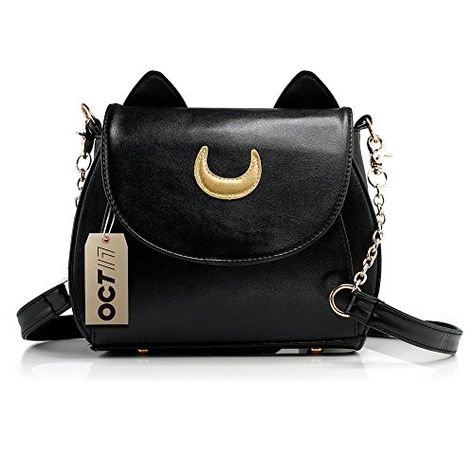 Satchel Crossbody for Travel InterestPrint Black and White Cat Saddle Bag Business Work