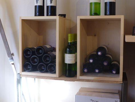Caisse En Bois Stapel Caisse A Vin Casier Bois Rangement Vin