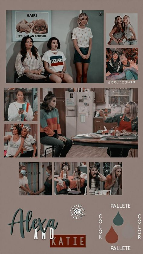 Alexa e Katie | melhores amigas | papel de parede | best friends wallpaper aesthetic