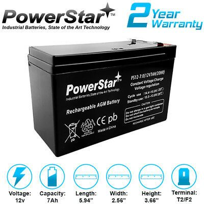 Powerstar 12v 7ah Replacement Battery For Mighty Mule Np7 12 12v 7 0ah 843443152185 Ebay In 2020 Yuasa Rechargeable Batteries Ups System