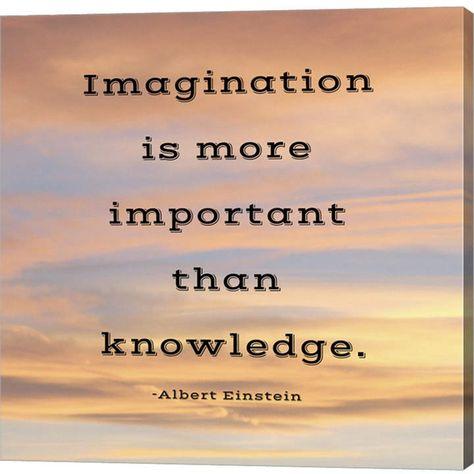 ImagInatIon quote by Veruca Salt Canvas Art