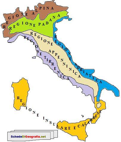 Cartina Dellitalia Con Zone Climatiche.Regioni Climatiche Italiane Mappa Dell Italia Libri Di