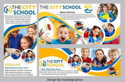 3 Best School Banner Free Vector Templates Psd And Cdr File Parsons Interior Fashion Schools Design Art Banner School Banner Flex Banner Design School Brochure