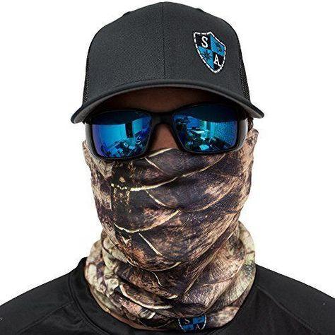 Outdoor Activity Face Mask Multi-Functional Headwear//Scarf SA Company Orange Grey Black Camo Face Shield//Loop Scarf//Bandana//Balaclava SPF 40