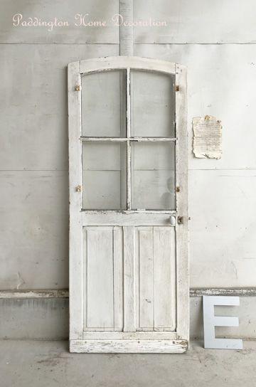 アーチトップの格子ガラスドア パディントン アンティーク家具
