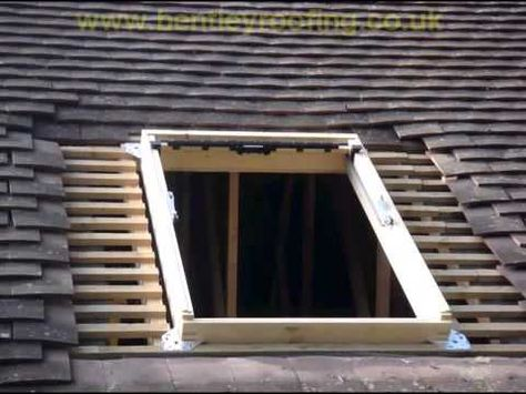 Velux new generation roof window standard installation into tile.