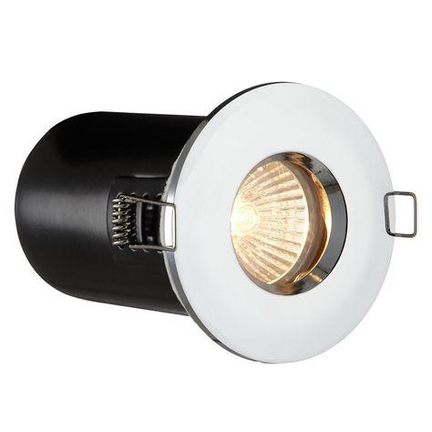 Saxby Recessed Bathroom Spotlight Chrome Bathroom Spotlights Bathroom Light Fittings Bathroom Ceiling Light