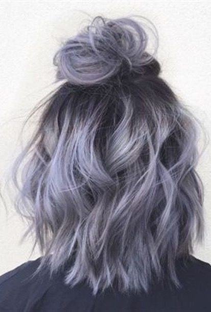 Silver Gray Ombre Hair Color Ideas For Short Hair Managed To Supplant The Burning Red Cold Blue And Extravag Hair Color Grey Silver Grey Ombre Hair Lilac Hair