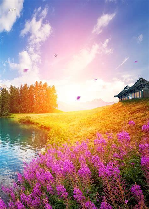 Background Biru Sejuk | Background, Beautiful Nature, Landscape