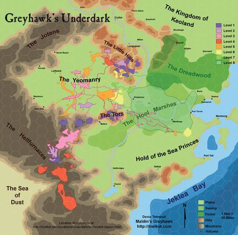The World of Greyhawk Map Project: a highly detailed, online, free ...