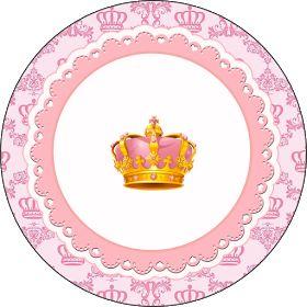 Fiestas Personalizadas Imprimibles: Kit imprimible Gratis de corona rosa.