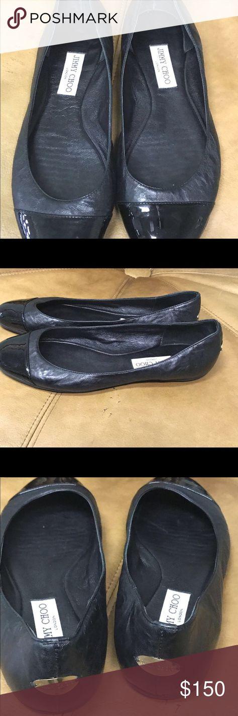 22c1add22f0 Jimmy Choo ballerina shoes flats Jimmy choo black leather patent like new  flats in