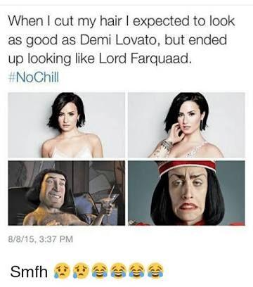 Resultado De Imagem Para Funny Memes Demi Lovato Lord Farquaad Hair Meme Demi Lovato Pictures