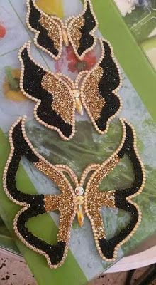 موديلات الفراشة بالعقيق وليزسطراس رائعة للإستفادة Hand Embroidery Designs Bead Embroidery Patterns Gold Work Embroidery
