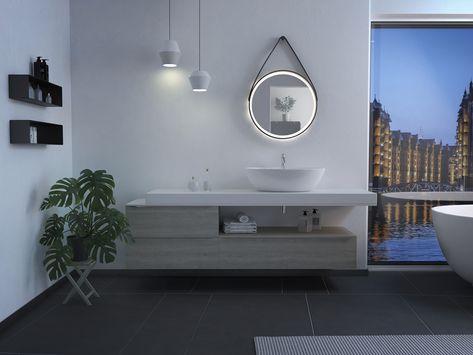 Led Designspiegel Rund Für Das Bad Oder Wohnambiente In 2019