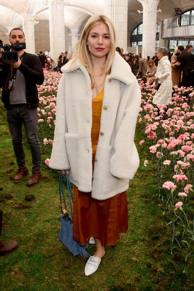 Actor Sienna Miller attends the Tory Burch Fall Winter 2018 Fashion Show during New York Fashion Week.