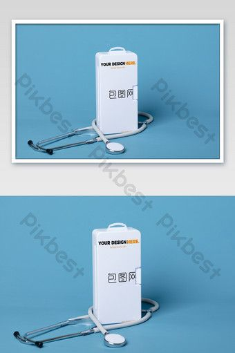Download Blue Medical Hospital Wind Base Map Stethoscope Medicine Box Packaging Mockup Psd Free Download Pikbest Medicine Box Packaging Medicine Boxes Box Packaging