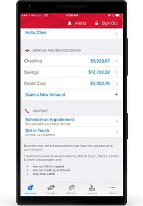 Bank Of America Red Credit Card In 2020 Bank Account Balance Bank Of America Student Banking