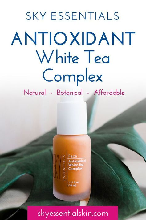 SKY Essentials Antioxidant White Tea Complex face serum is super effective on age spots and wrinkles as well as dry, dehydrated, irritated, sun damaged and sensitive skin. 18 Antioxidants defend your skin from free radicals and leave your skin fresh and h